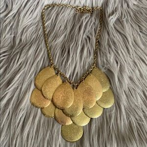 WORN ONCE! Forever 21 Gold Statement Necklace